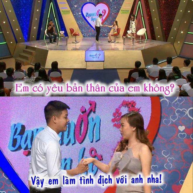 Bạn muốn hẹn hò: Màn thả thính của cô gái khiến MC Cát Tường ngại ngùng-1