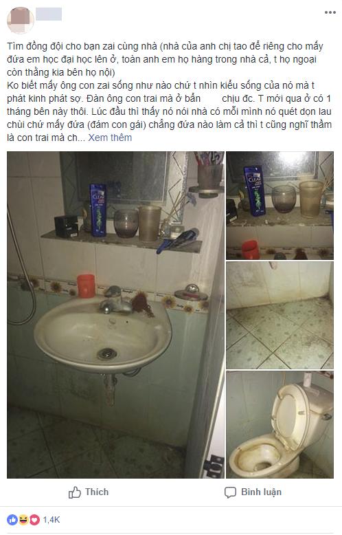 Cô gái đăng ảnh nhà vệ sinh bạn cùng phòng siêu ở bẩn, dân tình rào rào hỏi thăm: Phải chăng vua bãi rác đã xuất hiện?-1