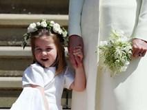 Khoảnh khắc đáng yêu của công chúa Charlotte trong đám cưới hoàng gia lần đầu được công bố