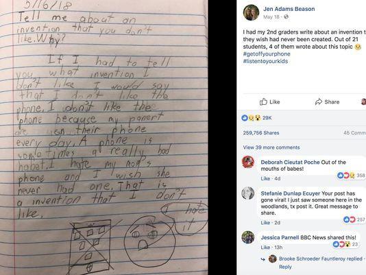 Bài văn Con ước gì mẹ không có điện thoại di động của cậu bé lớp 2 gây xôn xao MXH quốc tế-1
