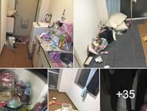 Nữ du học sinh ở Nhật thuê phòng trọ rồi bùng tiền, về nước để lại cả một núi rác