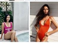 Kén dáng và rất dễ gặp 'tai nạn' nhưng áo bơi khoét hông cao vẫn là kiểu áo hot nhất hè này