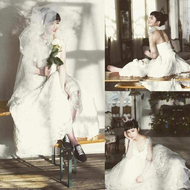 U40 Jang Nara khoe nhan sắc trẻ như gái 20 khi diện váy cưới-11