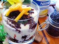 Mát lạnh tê người với 2 cách làm sữa chua nếp cẩm tuyệt ngon cho ngày nắng