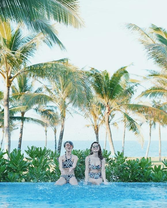 MC VTV Quỳnh Chi khoe vòng eo thon gọn khi diện bikini-13