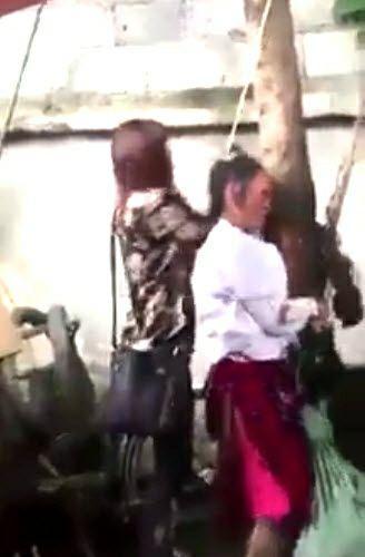 Sự thật về clip bà bầu bị cột tóc lên cây, đánh đến chết vì trộm cắp-1