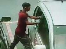 Clip: Nam thanh niên phá kính, trộm đồ của ôtô trong vòng