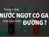 Một chai nước ngọt có ga chứa bao nhiêu đường?