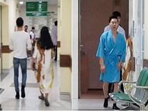 Vừa trở về nước, Quốc Nghiệp đã lập tức tới bệnh viện vì cú ngã đau đớn khi tham gia