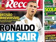 Báo Bồ Đào Nha: Ronaldo chắc chắn rời Real Madrid
