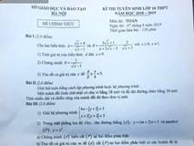 Thầy giáo chụp ảnh tuồn đề thi Toán ra ngoài khi học sinh mới làm bài được 1/2 thời gian