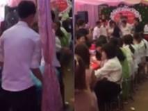 Hội bạn thân của chú rể mang 3 bao thóc mừng đám cưới