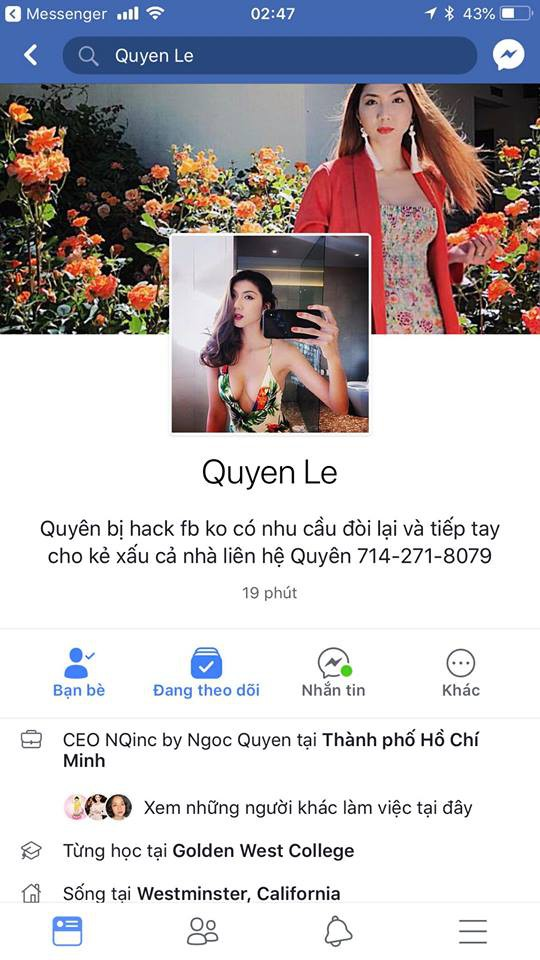 Bị kẻ xấu chiếm đoạt tài sản nhưng không phải sao Việt nào cũng tự lấy được Facebook như Võ Hoàng Yến-3