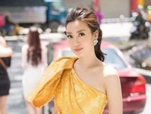 Ngây ngất với 'vẻ đẹp nữ thần' của HH Đỗ Mỹ Linh đi chấm thi hoa hậu
