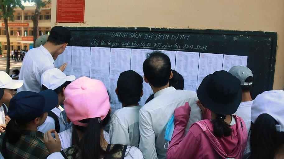 Hà Nội công bố điểm thi lớp 10 vào ngày 23/6-1