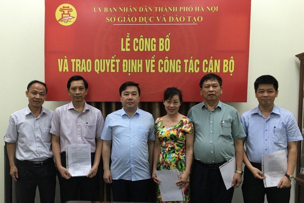 Chủ tịch Hà Nội bổ nhiệm 3 hiệu trưởng trường THPT mới-1