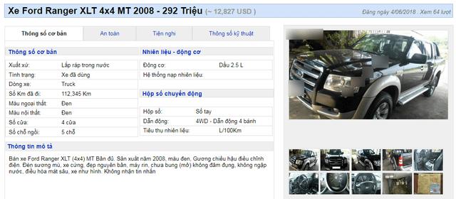 """Vua bán tải"""" cũ đẹp long lanh giá 300 triệu đồng vẫn… ế sưng-1"""