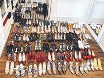 Vừa tuyên bố bỏ Facebook, Phạm Hương đã khiến cộng đồng Instagram nghẹt thở với tủ giày trăm đôi