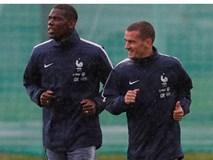 Griezmann, Pogba, Mbappe tươi cười trong buổi tập đầu tiên của ĐT Pháp