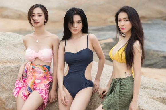 Jun Vũ - Hoà Minzy - Sỹ Thanh khoe dáng nóng bỏng trên biển với bikini-1