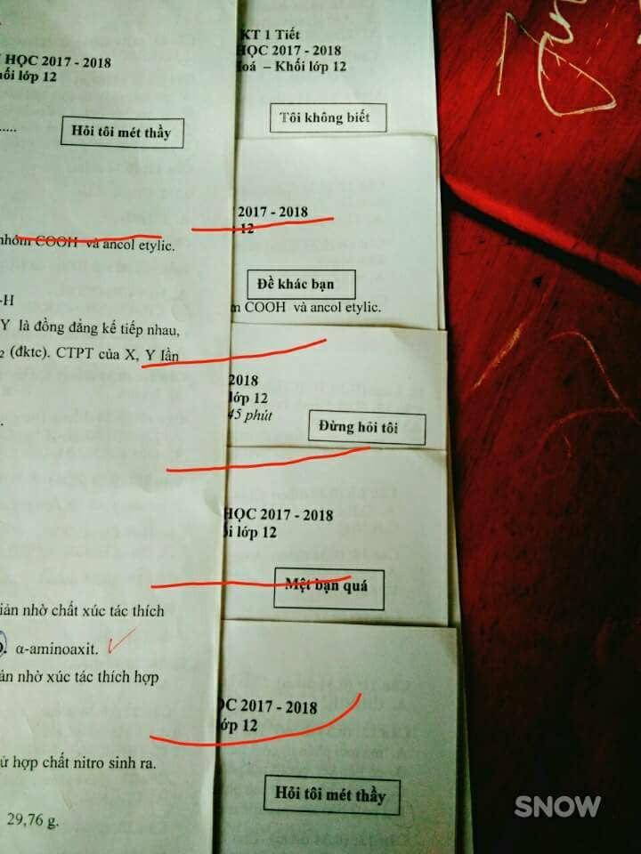 Những mã đề thi bá đạo của các thầy giáo khiến học sinh có muốn quay cóp cũng không được-1