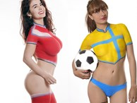 Ai biết loạt người đẹp 'chẳng mặc gì' đi cổ vũ World Cup 2018?