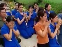 Nghẹn ngào khi nhìn giáo viên mầm non quỳ lạy để xin được dạy trẻ
