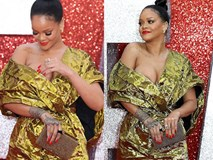 Rihanna mặc đồ trễ nải suýt lộ cả vòng 1 trên thảm đỏ