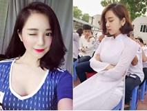 10X Hưng Yên nổi tiếng với bức ảnh ngủ gật có mặt trong dàn hot girl cổ vũ World Cup