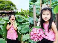 Bộ ảnh mẫu nhí bên sen siêu đẹp của ông bố 'soái ca' chụp con gái