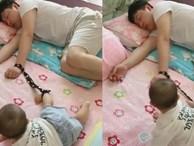 Đây là cách các bố vừa trông con vừa có thể ngủ