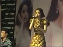 Chipu lạc giọng, lệch tông khi hát 'Tôi sẽ hát' tại buổi họp fan