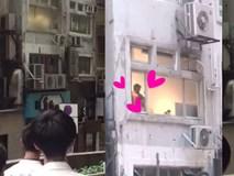 Hong Kong: Người dân tụ vạ dưới sân chung cư xem