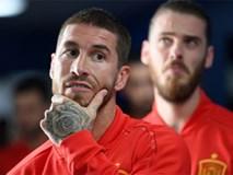 Sergio Ramos 'ăn mừng' Mohamed Salah bị loại khỏi World Cup