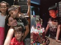Không còn gia đình 3 người, Cường Đô La vắng mặt trong sinh nhật 8 tuổi của con trai Subeo