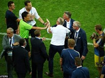 Ban huấn luyện Đức và Thụy Điển lao vào xung đột sau trận đấu