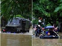 Xe đặc chủng, xuồng cứu hộ đón thí sinh thi THPT quốc gia