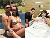 Siêu mẫu Hà Anh hạ sinh con gái đầu lòng nặng 4,4 kg cho ông xã ngoại quốc