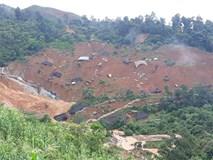 Hình ảnh cả làng 28 ngôi nhà bị chôn vùi trong đất đá
