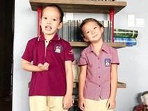 Ca sĩ Hồng Nhung đón 2 con đi học về bằng xe máy