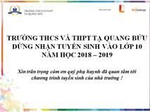 Sở GD&ĐT Hà Nội yêu cầu trường Tạ Quang Bửu trả lại lệ phí đã thu khi học sinh rút hồ sơ