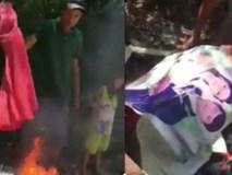 Quá hận vì vợ đêm nào cũng bỏ con đi không về, chồng châm lửa đốt hết áo quần, ảnh cưới