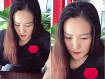 Vừa để lộ mặt mộc già nua, Anh Thơ vợ diễn viên Bình Minh lại xuất hiện lạ lẫm với cằm nhọn hoắt