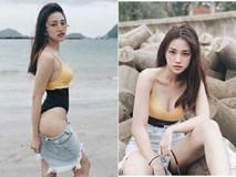 Thiên Nga The Face gây tranh cãi với mốt quần tụt phối áo tắm