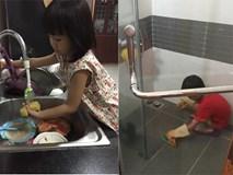 """""""Giả bộ mệt"""" để dụ 2 con làm việc nhà từ bé tí, kết quả hiện tại khiến ai cũng ngưỡng mộ"""