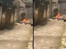 Con rể xích mích mang bình gas ra nhà bố mẹ vợ đốt cho 'ông bà biết mặt'