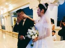 Á hậu Tú Anh bật khóc khi nghe lời căn dặn của bố chồng trong hôn lễ
