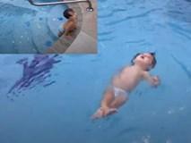 Phụ huynh nào cũng muốn con tập bơi khi xem bé 2 tuổi bơi dưới bể