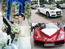Lóa mắt với dàn siêu xe trị giá hàng chục tỷ trong đám cưới sao Việt