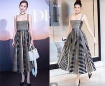 Xinh đẹp như Angela Baby cũng phải nhường bước trước Phạm Hương khi diện chung một mẫu váy